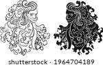 virgo of astrology design... | Shutterstock .eps vector #1964704189