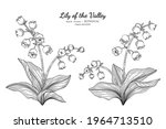 lily of the valley flower and... | Shutterstock .eps vector #1964713510
