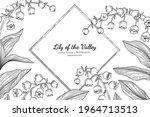 lily of the valley flower and... | Shutterstock .eps vector #1964713513