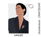 cancer horoscope. cancer zodiac ... | Shutterstock .eps vector #1964720149