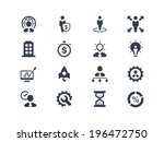 management and business icons | Shutterstock .eps vector #196472750