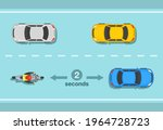 motorcycle two seconds rule on...   Shutterstock .eps vector #1964728723