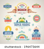 set of summer and travel design ... | Shutterstock .eps vector #196473644