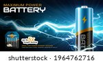 3d li ion aa battery...   Shutterstock .eps vector #1964762716
