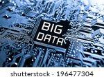 data concept  circuit board... | Shutterstock . vector #196477304