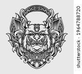 tattoo and t shirt design black ... | Shutterstock .eps vector #1964788720