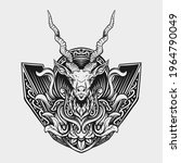tattoo and t shirt design black ... | Shutterstock .eps vector #1964790049