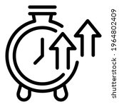 stopwatch growth icon. outline... | Shutterstock .eps vector #1964802409