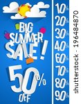 summer sale background with... | Shutterstock .eps vector #196484870