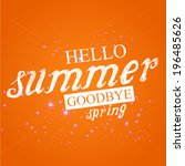 vector design for summer  | Shutterstock .eps vector #196485626