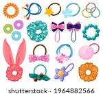 hair rubber bands. cartoon... | Shutterstock .eps vector #1964882566