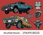 custom cars and parts colorful... | Shutterstock .eps vector #1964918020