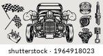 retro custom car vintage... | Shutterstock .eps vector #1964918023