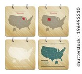 united states of america map on ... | Shutterstock .eps vector #196493210