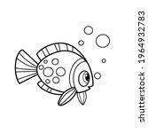 cute cartoon big sea fish... | Shutterstock .eps vector #1964932783