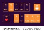 health tracker app ui elements...