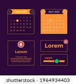 monthly calendar ui elements...
