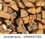 A Stack Of Birch Firewood ...