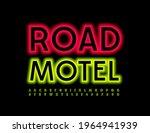 vector neon sign road motel.... | Shutterstock .eps vector #1964941939