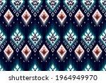 ikat ethnic indian seamless...   Shutterstock .eps vector #1964949970