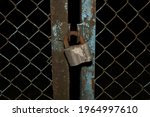 Rusted Safety Lock On An Old...