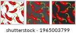 seamless pattern with red hot...   Shutterstock .eps vector #1965003799