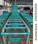 A Row Of Trolleys. Tesco Is...