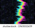 glitch noise on tv screen ... | Shutterstock .eps vector #1965032659