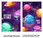 space planets and galaxy...   Shutterstock .eps vector #1965032929