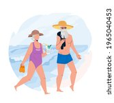 seniors vacation together on...   Shutterstock .eps vector #1965040453