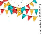 confetti background with... | Shutterstock .eps vector #196505819