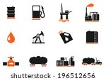 oil and petrol industry objects ... | Shutterstock .eps vector #196512656