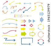 colorful arrow material set... | Shutterstock .eps vector #1965129979