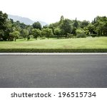 road side view garden background | Shutterstock . vector #196515734