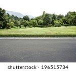 road side view garden background | Shutterstock . vector #196515734