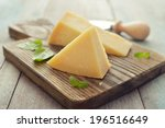 parmesan cheese on cutting... | Shutterstock . vector #196516649