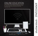online education vector... | Shutterstock .eps vector #1965226069