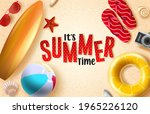 summer time vector background... | Shutterstock .eps vector #1965226120