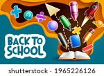 back to school vector banner... | Shutterstock .eps vector #1965226126