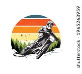 vintage motocross artwork for...   Shutterstock .eps vector #1965263959