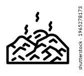 Landfill Gas Biogas Line Icon...