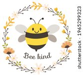 the character of cute bee and... | Shutterstock .eps vector #1965299323