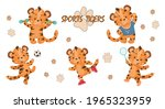 A Set Of Five Cute Little Tiger ...