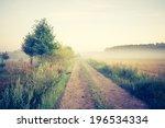 vintage photo of summer meadow... | Shutterstock . vector #196534334