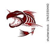 fish bone mascot for logo and t ... | Shutterstock .eps vector #1965350440