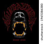 dog with golden teeth hand...   Shutterstock .eps vector #1965386380