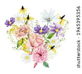 Hand Drawn Wild Floral Summer...