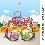 amusement park  | Shutterstock .eps vector #196543244