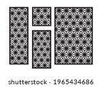 modern flowers cnc pattern.... | Shutterstock .eps vector #1965434686