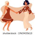 lesbian homosexual couple... | Shutterstock .eps vector #1965435613